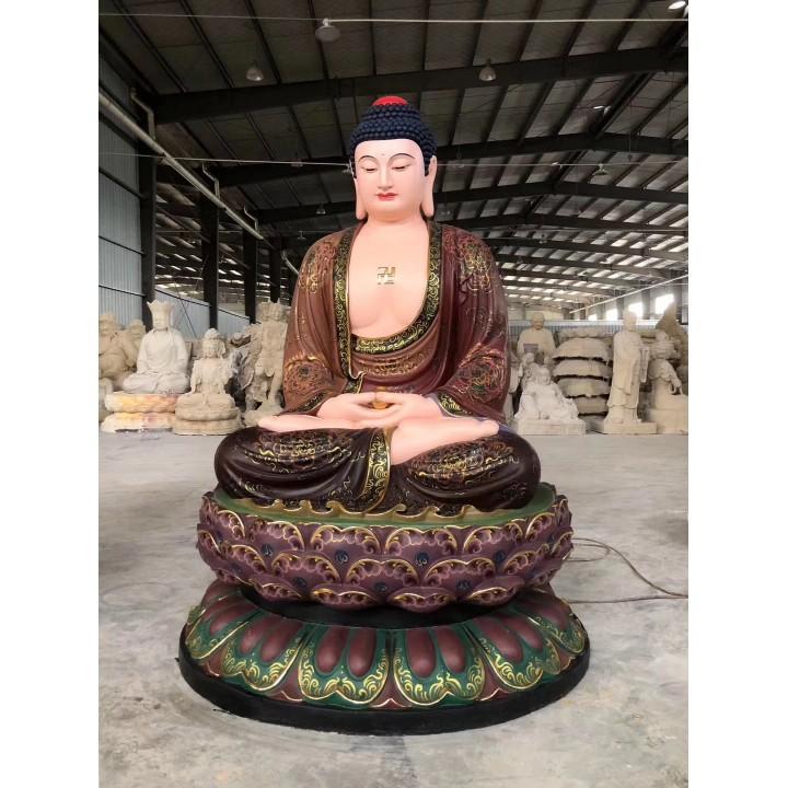 1.75米释迦佛,1.75米地藏菩萨。