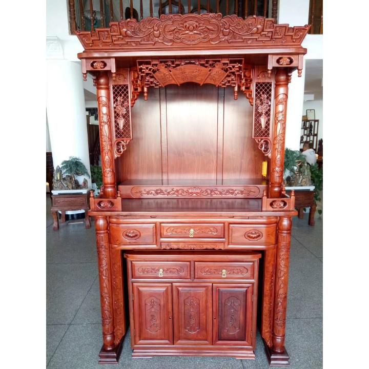 红檀香木头套柜
